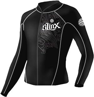 pandawoods Wetsuit top 2mm Long Sleeve Neoprene Wetsuit Jacket for Men Women