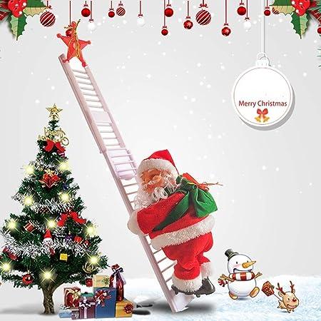 JIMACRO Santa Climbing Rope Ladder, Juguete eléctrico de la Que Sube de Papá Noel,Campanas Musicales eléctricas Escalera de Escalada Juguete de Papá Noel, Juguete de Adorno de estatuilla: Amazon.es: Hogar