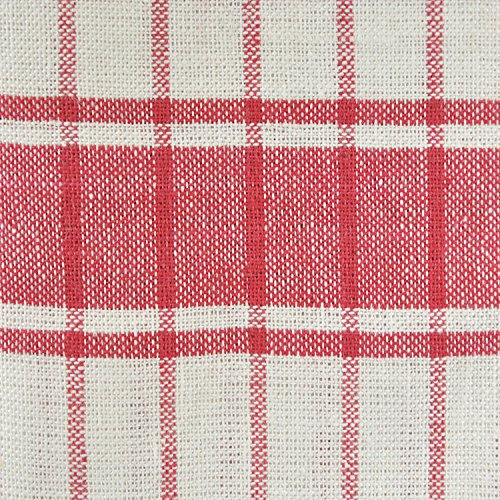 DII 100% Cotton, Ultra Absorbent, Drying & Cleaning, Everyday Kitchen Basic, Classic Stripe Dishtowel, 20 x 28, Set of 8- Red by DII (Image #3)
