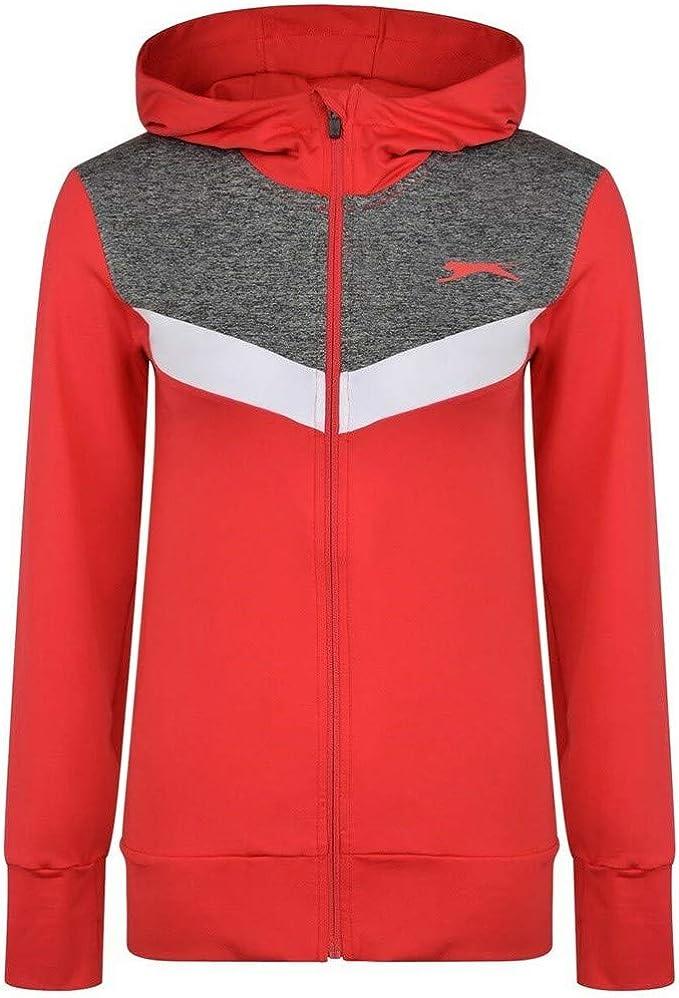 Slazenger Zip Pullover Ladies Jumper Full Length Sleeve Zipped Stretch