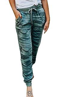 Pantalons Femme Mode Vintage Taille Haute Pantalon Sport Camouflage  Confortable Spécial Style Élégant Pantalon Jogging Printemps ab3ce662a9a
