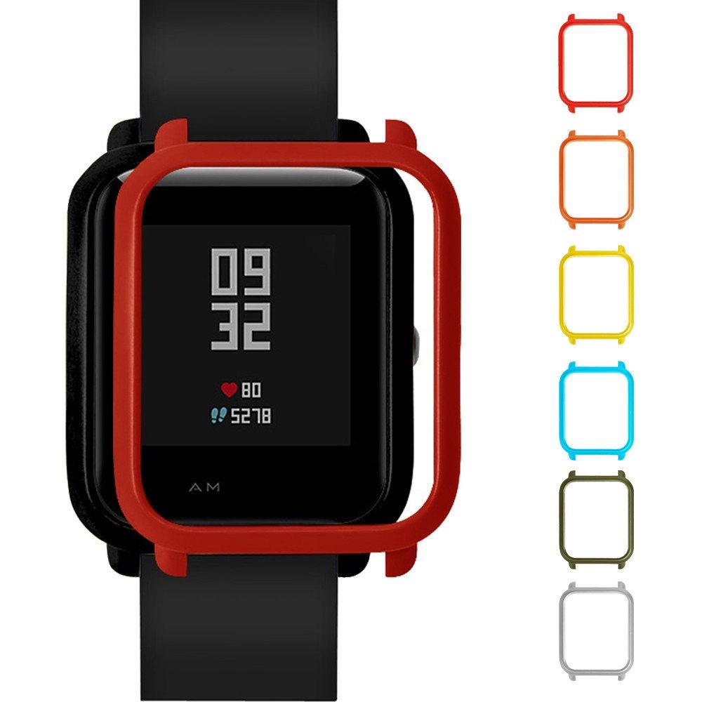 MYQyiyi Protector de Pantalla del Reloj Inteligente para Xiaomi Huami Amazfit Bip Youth Watch (Azul): Amazon.es: Electrónica
