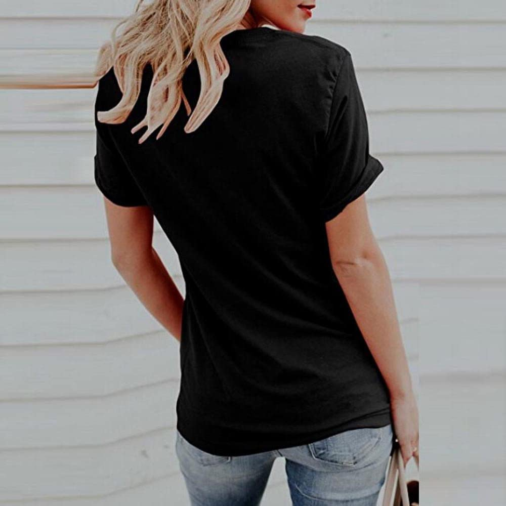Is My Happy Color Letter Pullovers T-Shirts Tees Tops UOKNICE WOMEN-TOPS Uoknice Blouses For Womens