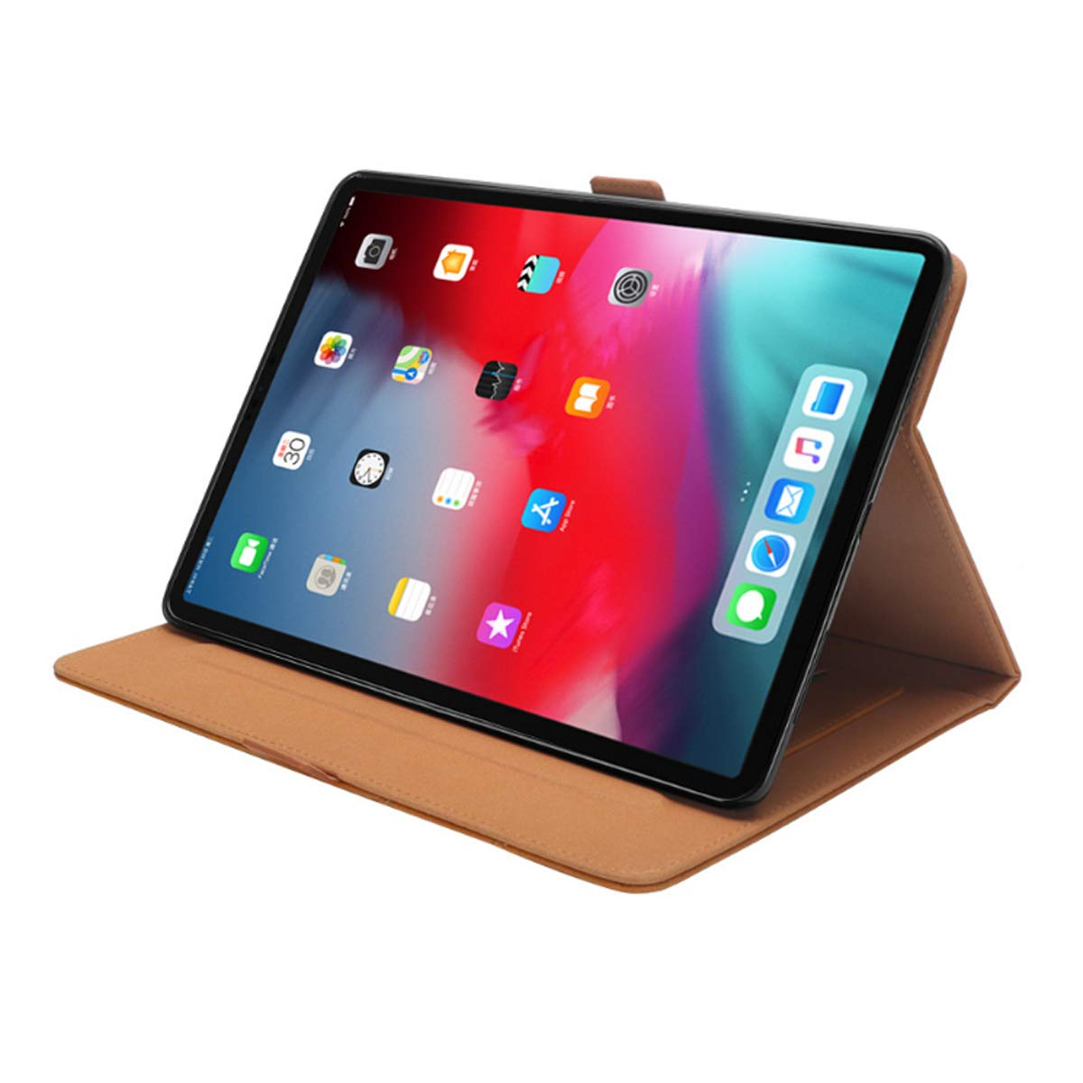 iPad 6th Generation Cases with Pencil Holder, Premium PU Leather Folio Case Soft TPU Back Protective Stand Cover with Card Slots for iPad 9.7 Inch 2018 (6th Gen) / iPad 9.7'' 2017 (5th Gen) –Khaki by KATEGY (Image #7)