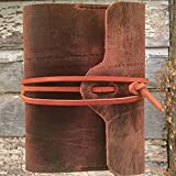 Medieval style leather bound journal notebook sketchbook diary guestbook A5 size by Papyrus Crafts