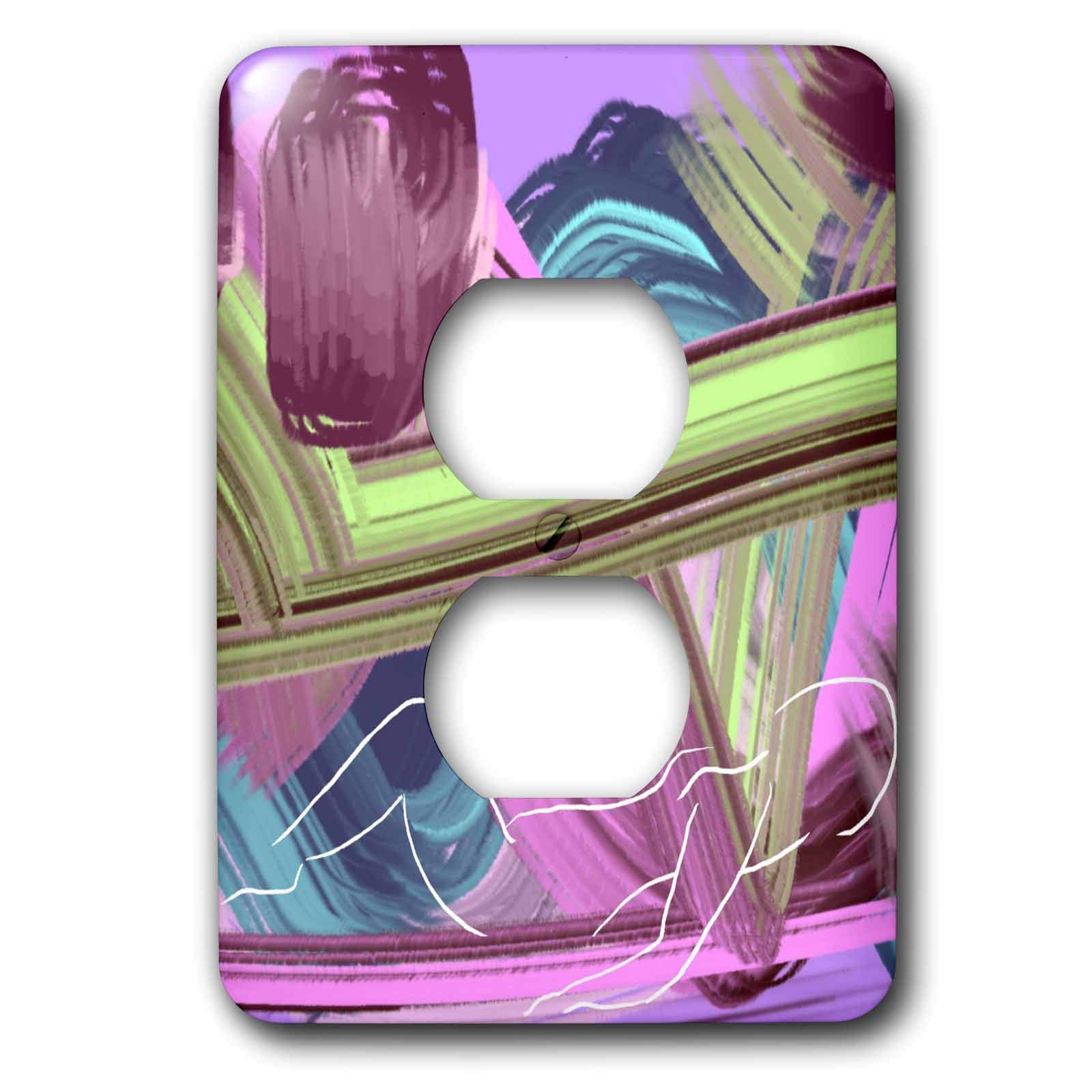 3dRose Lasha Beraia - Minimalist - Reclining Woman on Abstract Background - Light Switch Covers - 2 plug outlet cover (lsp_288697_6)