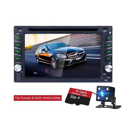 Reproductor de DVD CD de pantalla táctil del coche Bluetooth Cámara trasera Espejo Retrovisor GPS para