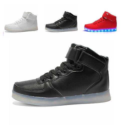 Led Schuhe Hoch Oben Usb Aufladen Blinken Fashion High Top Sneakers
