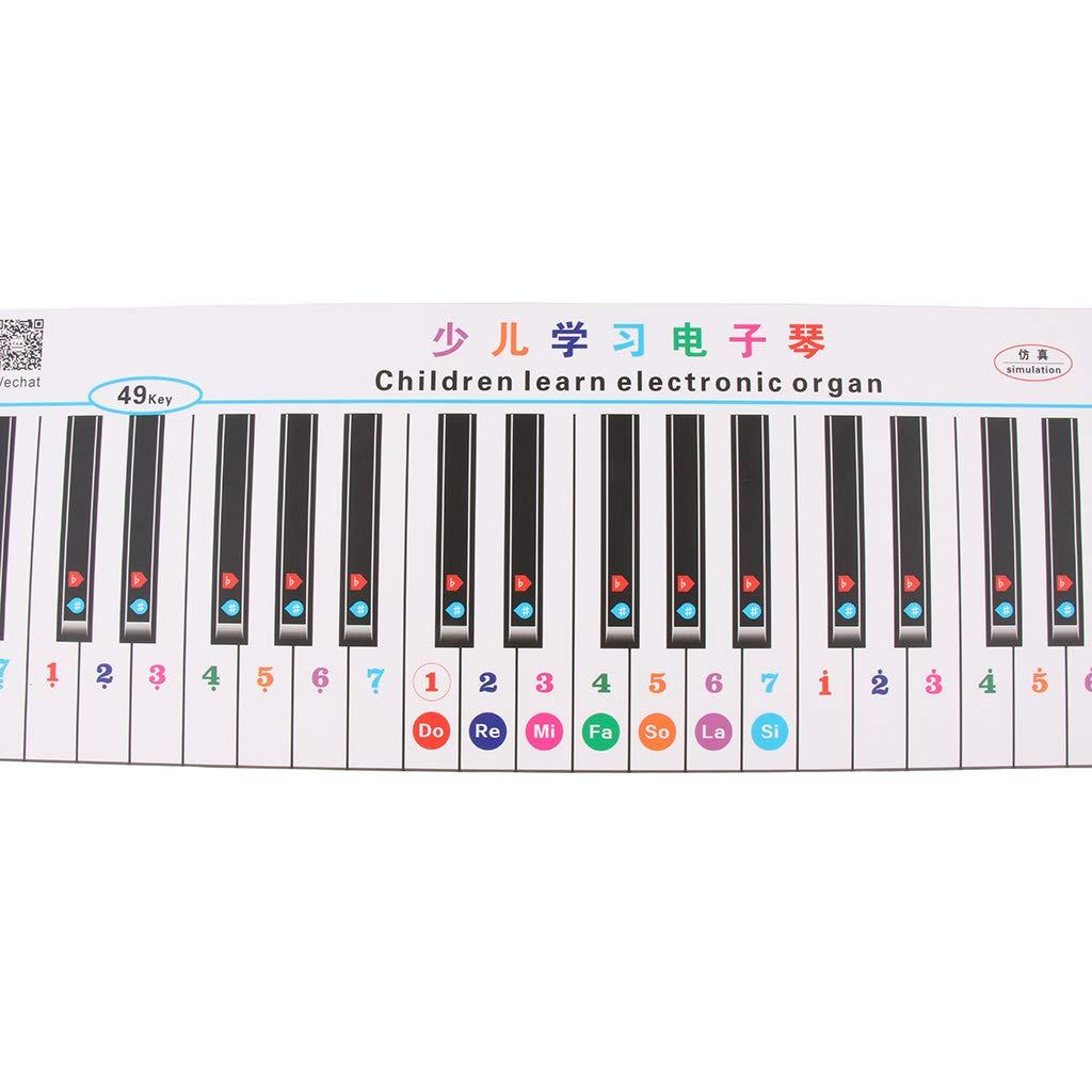 perfk Autocollant Clavier /Électronique Note pour 49//61 Claviers T-03
