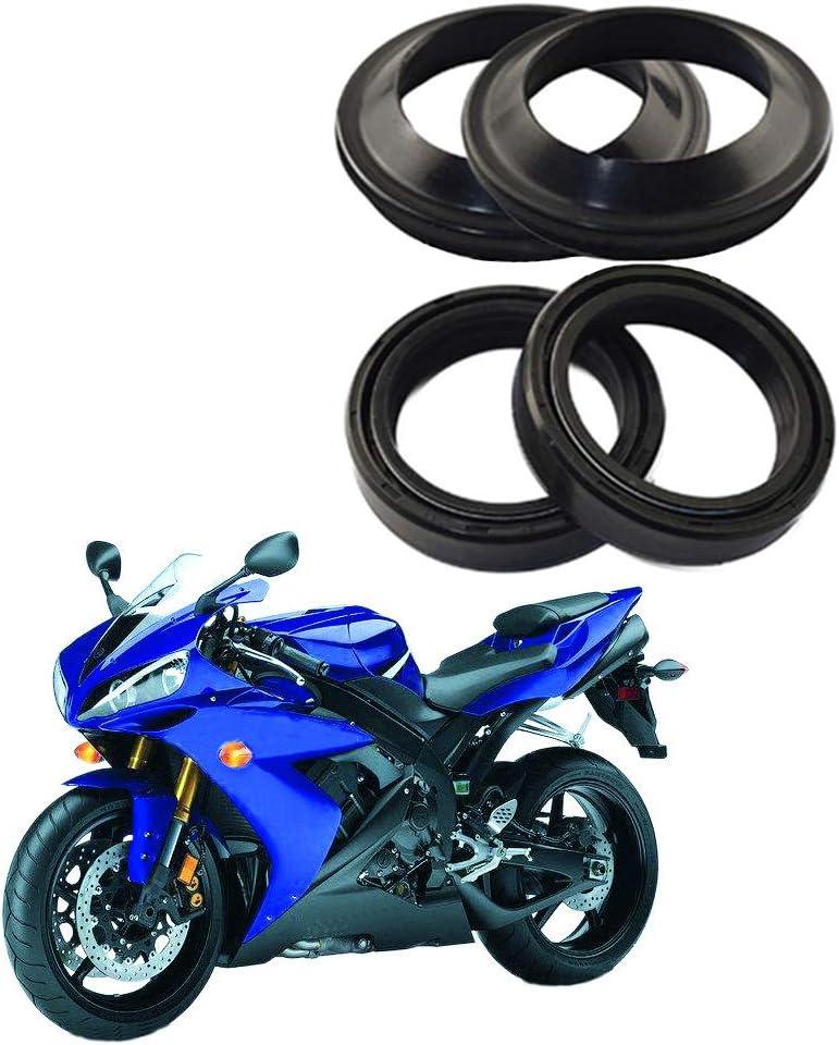 Jiheousty 4 Teilige Motorrad Vorderradgabel Öldichtung Und Staubdichtung Für Honda Cb1 Cb400 Cbr400 Cb750 Küche Haushalt