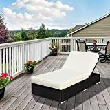 Outsunny Rattan Lounge Outdoor Sun Lounger Patio Wicker Bed Garden Recliner Chaise Sofa Furniture