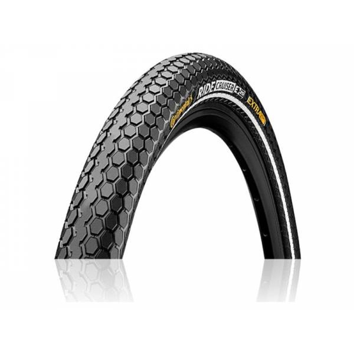 Continental Ride Cruiser ETRTO Bike Tires, Black Reflex, 26x2.2 (55-559) 0101527