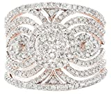 1.25ctw Excellent Cut Round Diamond (H-1 color, i1 - i2 clarity) in 14k Gold Fashion Ring