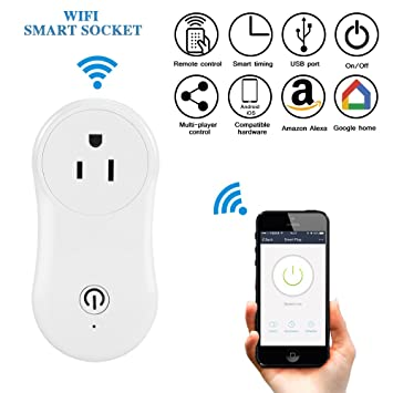 Amazon.com: Wifi Smart Plug, ONEVER Wireless Wifi Intelligent Socket ...