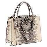 Miu Miu Women's 5BA0432ENWF0187 Grey Leather Handbag