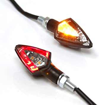 Pair Universal Motorcycle 15 LED Amber Turn Signal Indicator Light Lamp E-Mark