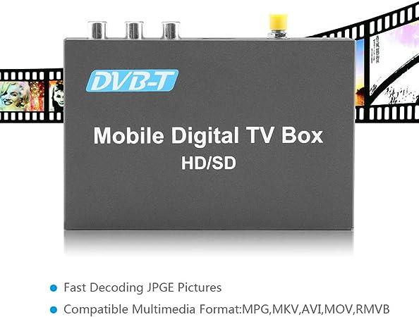 Car Digital TV Box Keenso DVB-T HD//SD Mobile Car Digital TV Box Analog TV Tuner High Speed 240km//h Strong Signal Receiver