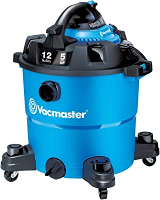 Vacmaster VBV1210, 12-Gallon 5 Peak HP Wet/Dry Shop Vacuum