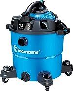 Vacmaster VBV1210, 12-Gallon 5 Peak HP Wet/Dry Shop Vacuum with Detachable