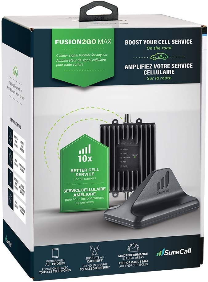 Renewed SureCall SC-FUSION2GOMAX Fusion2Go Max in-Vehicle Cell Phone Signal Booster