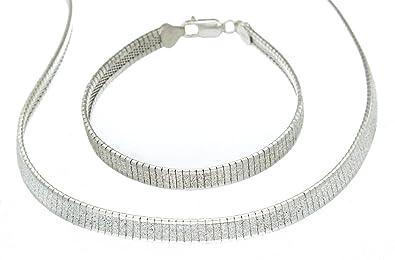 Tuscany Silver Sterling Silver Stretch 4mm Twist Ball Bracelet of 19cm/7.5 3KVucfnk