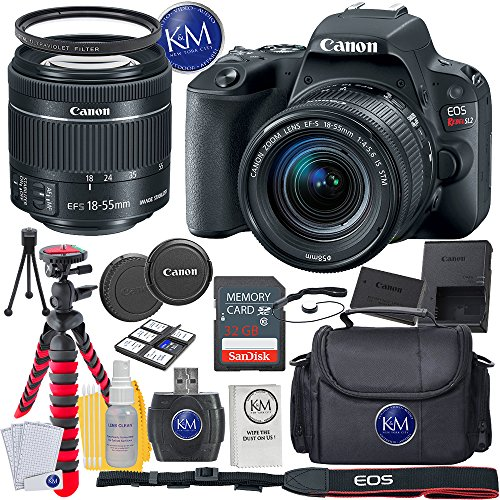 Canon EOS Rebel SL2 DSLR Camera w/ 18-55mm Lens + 32GB Card + Basic Photo Accessory Bundle from Canon