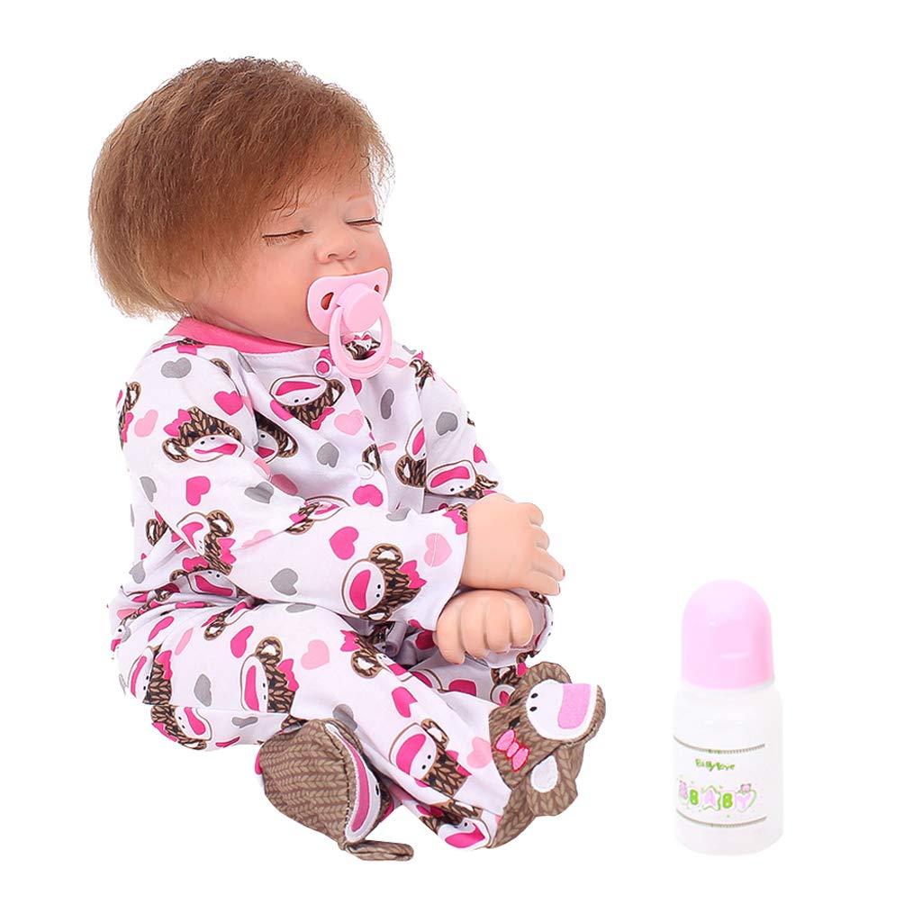Baoblaze Model Bambole Reborn Girl di Vinile Giocattolo per Dormire per Bambini - 22 Pollici - B