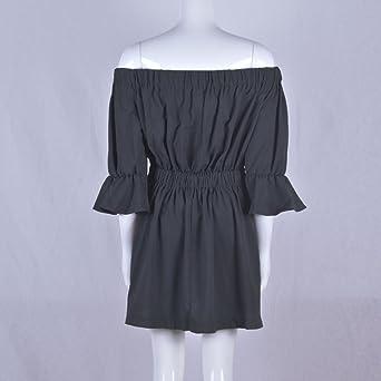 CAOQAO Elegant Damska Ballkleid Hochzeitskleid Festlich Dressurgerte Aufflackern HüLse Weg Vom Schulter Feiertags Kleid Ballkleid Hochzeitskleid Festlich Dressurgerte Sommer Kleid: Odzież