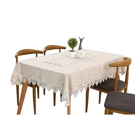 siyang Beige Encaje Bordado Funda para mesa mantel para cocina Pub ...