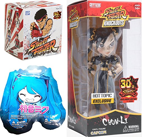 HOT Chun-Li Exclusive Street Fighter Action Vinyl Blind Box + Knock Outs 7'' Figure 30th Anniversary Limited Edition Clack Costume & Hatsune Miku Blind Bag by AYB