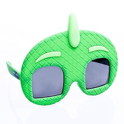 Sunstaches Lil Characters PJ Masks Gekko Kids Character Sunglasses, Party Favors, UV400