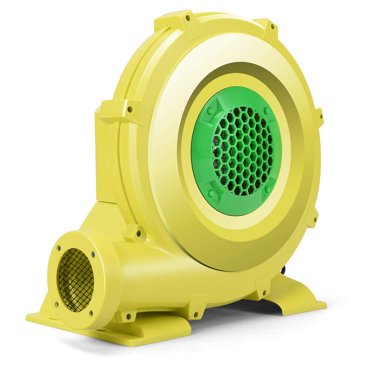 Costzon Air Blower, Pump Fan Commercial Inflatable Bouncer Blower, Perfect for Inflatable Bounce House, Jumper, Bouncy Castle 950 Watt 1.25HP Yellow