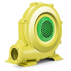 Costzon Air Blower, Pump Fan Commercial Inflatable Bouncer Blower, Perfect for Inflatable Bounce House, Jumper, Bouncy Castle (680 Watt 1.0HP) Yellow