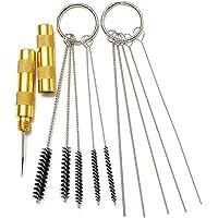 ZREAL 3pcs / Set Airbrush pulvérisation de nettoyage des outils de réparation Kit en acier inoxydable brosse à aiguilles ensemble