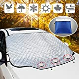 YANX Car Sunshade Windshield Cover Snow Cover Frost Windshield Cover with Magnetic Edges Defense Sunshine, Snow, Ice and Frost