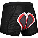 X-TIGER Mujer/Hombres Unisexo Ropa Interior de Bicicleta estáticas y de Spinning con 5D Gel Acolchado MTB Ciclismo Pantalones Cortos