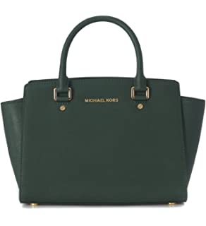 c14f8072a27a Amazon.com: Michael Kors Collins Women's Leather Medium Satchel ...