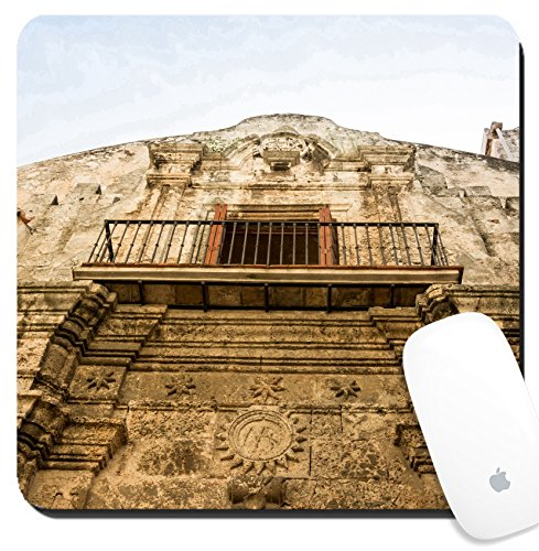 Luxlady Suqare Mousepad 8x8 Inch Mouse Pads/Mat design IMAGE ID: 34368428 Old Havana Cathedral Architecture Detail The Cathedral of The Virgin Mary of the Immaculate - Sale For Havana Cats