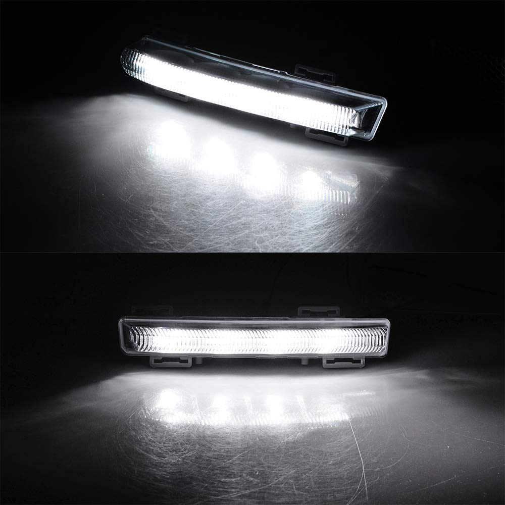 2X LED DRL Daytime Running Light Replacement for Mercedes C E SLK Class W204 W212 R172 OE A2049068900 A2049069000