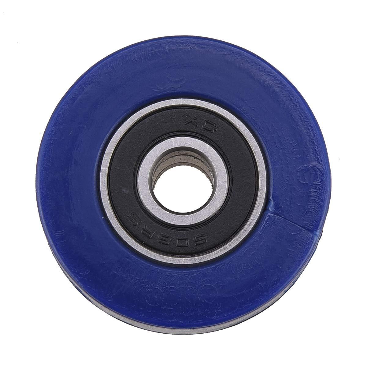 PRO CAKEN Chain Roller Pulley Slider Tensioner Wheel Guide for Pit Dirt Mini Bike 8mm (Blue)