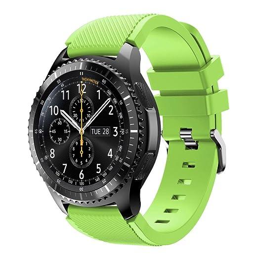 12 opinioni per Ihee Cinturino di ricambio per Samsung Gear S3Frontier, in morbido silicone,