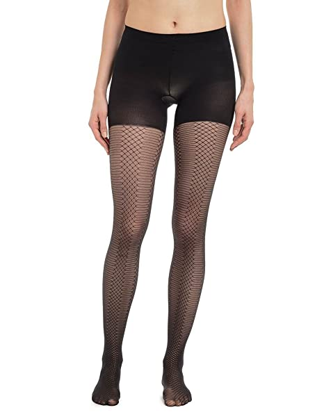 144bfab1a74 SPANX Takes Off` Patterned Shaping Tights Den Black  Amazon.ca  Clothing    Accessories