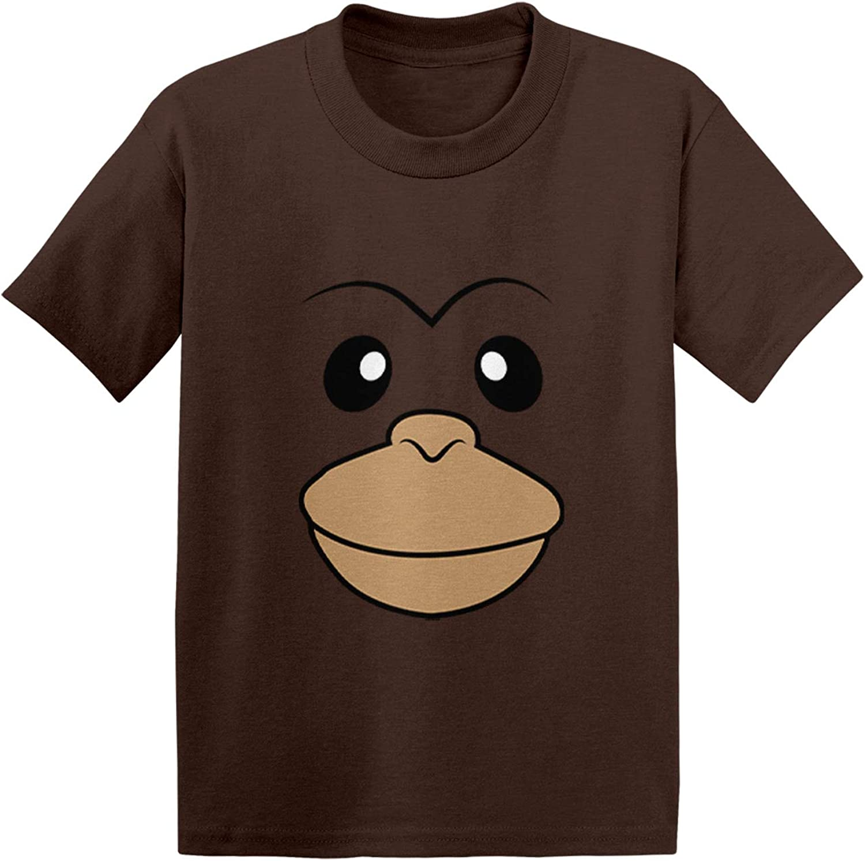 Wild Animal Toddler//Youth Fleece Hoodie Monkey Face
