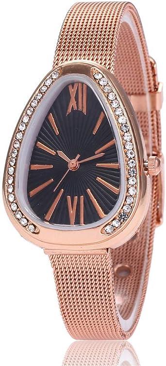 Reloj de Mujer Pulsera Regalo Reloj de Malla de Oro Rosa Reloj ...