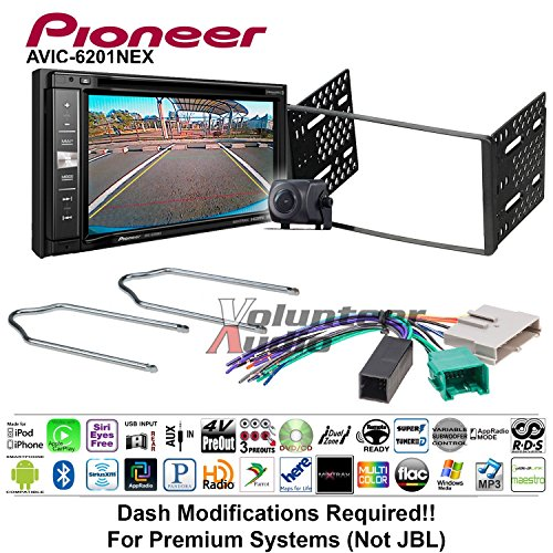 Volunteer Audio Pioneeer AVIC-6201NEX Double Din Radio Install Kit w/GPS Navigation Apple CarPlay Android Auto Fits 1995-1997 Ford Explorer, Ford Ranger, Lincoln Town Car ()