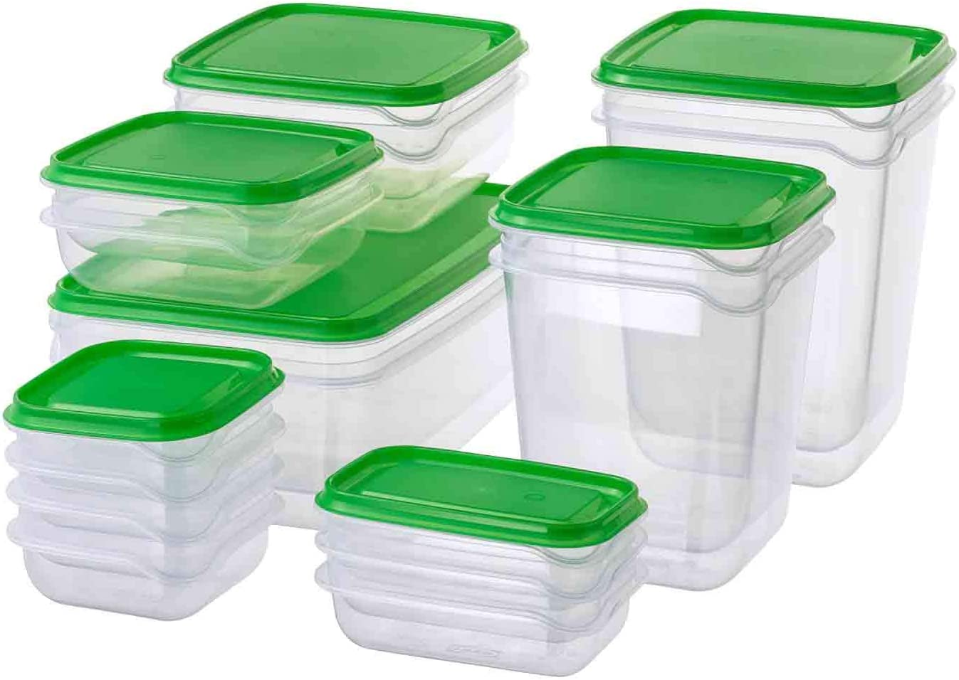 IKEA PRUTA BPA FREE FOOD CONTAINER, SET OF 17, MICROWAVE,FREEZER,DISHWASHER-SAFE ;from#bestshop201314