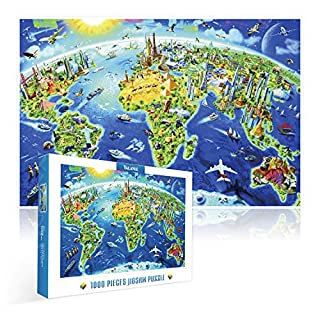 Jigsaw Puzzles 1000 Pieces for Adults,YALANLE Wooden Puzzle with a Large Poster Miracle World Ideal for Relaxation Meditation Hobby Suit for Age 8+
