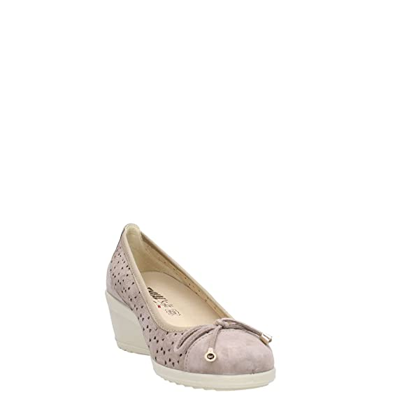 7938 TAUPE Scarpa donna decolletè zeppa Enval soft pelle made in Italy wvGGTsgt