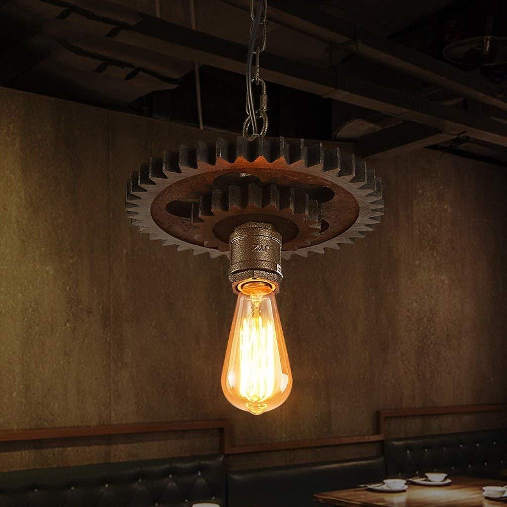 LQB Kronleuchter Retro Industrial Wind Persönliche Cafe Coffee Shop Bar Restaurant Restaurant Shop Kreative Eisen Getriebe Kronleuchter B07GFCFVTN   Shop