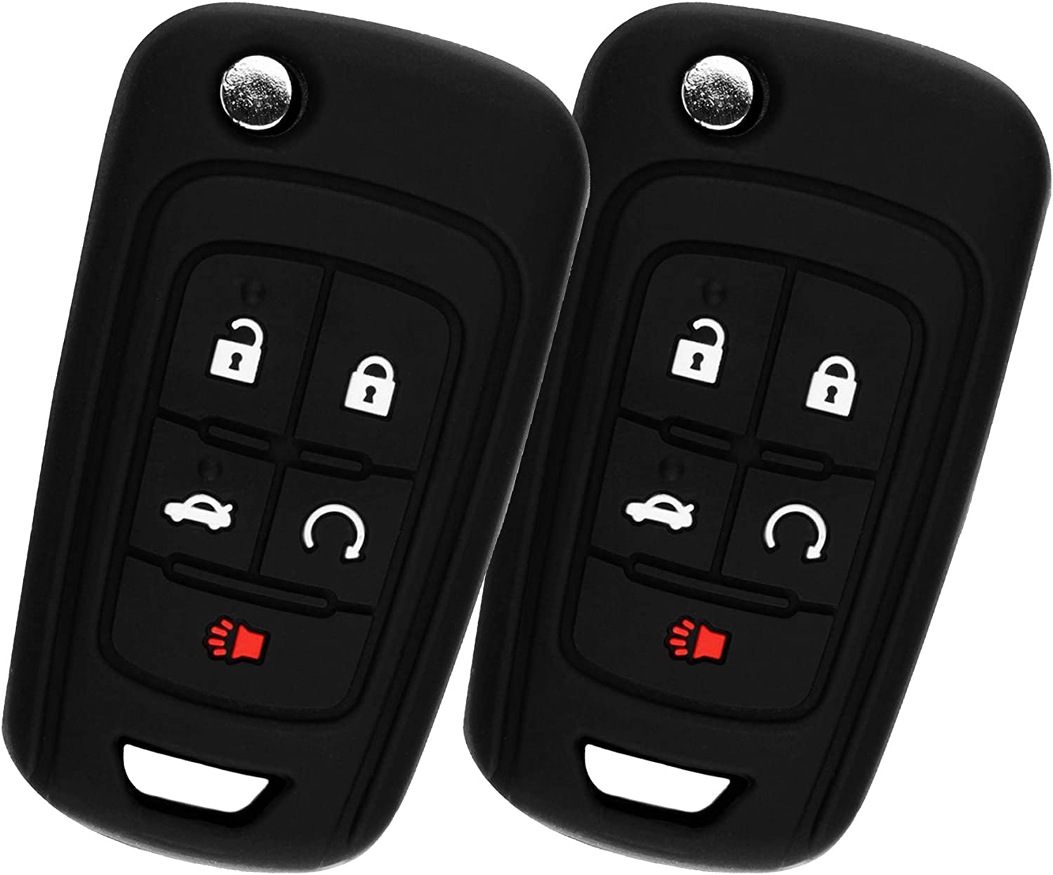Key Fob Keyless Remote fits 2010-2016 Buick Chevy GMC Vehicles OHT01060512 Protective Cover